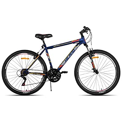 Hiland 26 Inch Mountain Bike 21Speed MTB Bicycle for Men with 15 Inch Suspension Fork Urban Commuter City Bicycle Blue