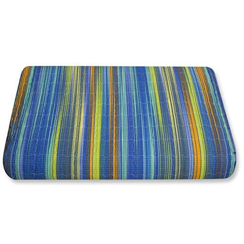 Caleffi Tagesdecke, gesteppt, Regenbogen, für 2 Personen 2 Sitze Kornblumenblau