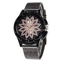 sharprepublic レディース 腕時計 シンプル 女性 時計 ビジネス バングル ブレスレット 女性 プレゼント 全3色 - ブラック