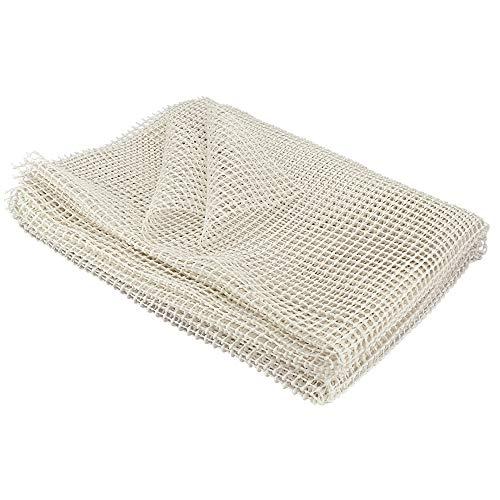 PERFETSELL Teppichunterlagen rutschfest PVC Antirutschmatte Teppich rutschfeste Unterlage 150 * 230cm Beige Teppich Anti Rutsch Matte Zuschneidbar Rutschunterlage Antirutschunterlage für Teppich