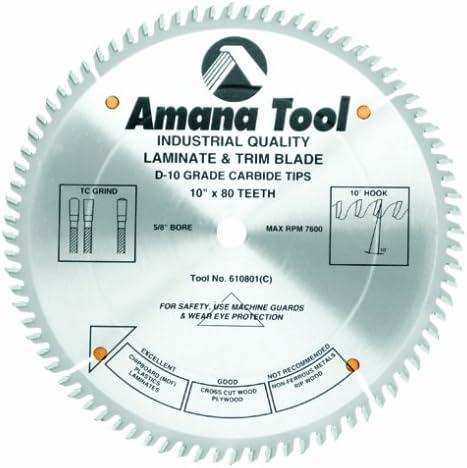 "discount Amana Tool - 610801 Carbide Tipped Fine 2021 Cut-Off & Crosscut 10"" high quality Dia x 80T Tcg, 10 Deg online"
