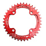 CYSKY Narrow Wide Chainring 104BCD 38T 4 Bolts Bike Single Chainring for 9 10 11 Speed, Perfect for...