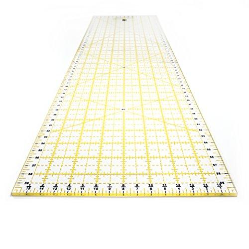 OfficeTree Regla Patchwork 60x15 - Regla Costura Patronaje 60 cm - Regla de Patchwork para Manualidades de Costura