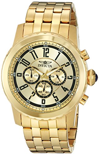 Invicta Men's 19465 Specialty Quartz Chronograph Gold Dial Watch
