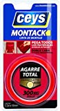 CEYS CE507240 MONTACK A.T. INMEDIATO Cinta Blister, Rojo Transparente, 2.5 x 19 mm