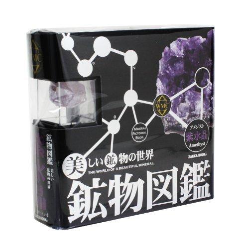 Live Enterprise Mineral Picture Book Purple Crystal (Amethyst) ZH-KZN-0111 (Japan Import)