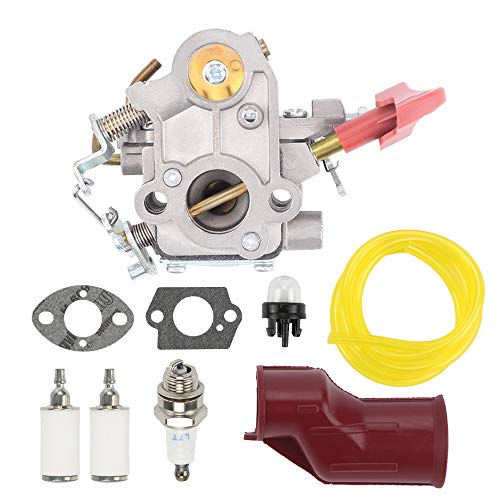 545189502 Carburetor for Poulan PP333 PP133 PP033 PP338PT Pro Craftsman 358791170 358791140 Gas Trimmer Edger 33cc Carb Zama C1M-W44 Replace 545008042 with Fuel Filter Spark Plug