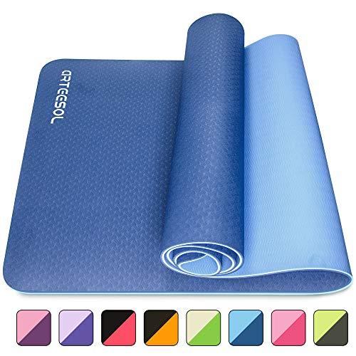 arteesol Yogamatte, 183cm x 61cm x 6mm rutschfeste Große Gymnastikmatte, Reißfest Umweltfreundlich Fitnessmatte mit Tragegurten, Premium für Pilates, Fitness, Frauen und Männer