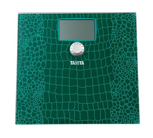 Tanita HD-383 Personenwaage mit BMI Anzeige Glaswaage Krokodilgrün