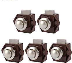 ZLDCTG 5pcs Diameter 20mm Camper Car Push Lock Caravan Boat Drawer Latch Button Locks for Furniture Hardware (Size : 5pcs ...