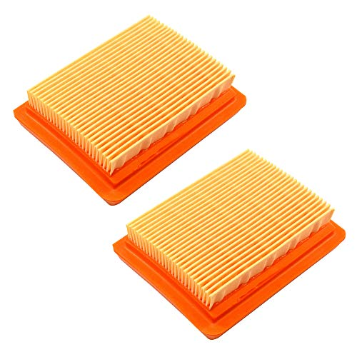 HQRP 2-Pacco Filtro Aria Compatibile con ZENOAH 848H7083F1 per Zenoah BCZ4500DL, BCZ4500DW, BCZ4500CL, BCZ5000DL, BCZ5000DW, BCZ5000CL Decespugliatore Trimmer, GZ45N GZ50N Motore, Misuratore Sole