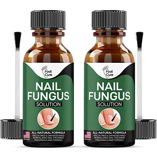 Extra Strong Nail & Toe Fungus Treatment - Made In USA, Best Nail Repair Set, Fungi Fingernail & Toenail Solution, Fix & Renew Damage Fungal Nail, Broken, Cracked & Discolored Nails, Pack of 2