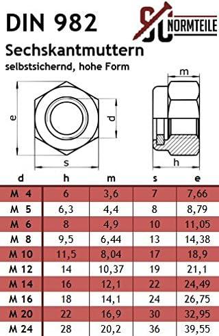 Schlossschrauben - SC603 // SC982 - M8x60 - Stoppmuttern - Vollgewinde 50 St/ück V2A Flachrundschrauben mit Sicherungsmuttern hohe Form Edelstahl A2 DIN 603 // DIN 982
