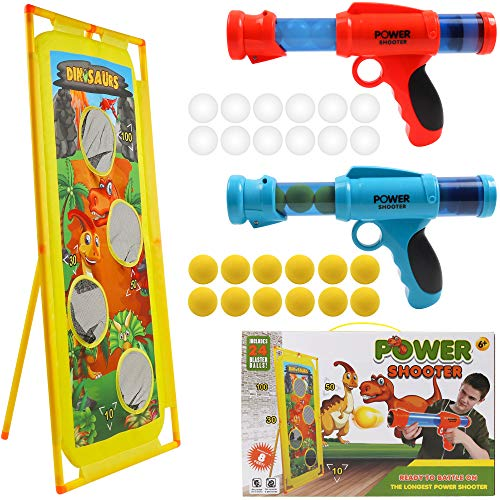 DigHealth 2 PCS Power Gun and Standing Shooting Target, Outdoor Shooting Game with Plastic Luminous...