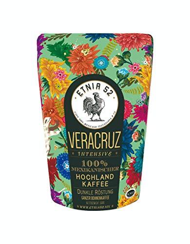 ETNIA52   Mexikanischer Kaffee   Beste Qualität aus Mexiko   Handgeerntet   Sonnengetrocknet   Trommelröstung   500 Gramm Packung   Ganze Bohne (Veracruz)