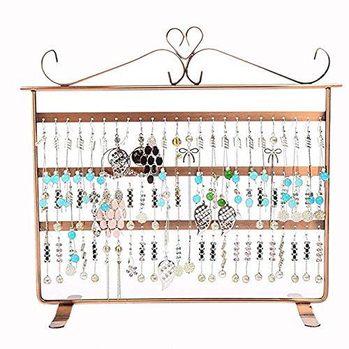 ZXCVB Joyería que cuelga Organizador - 3 Nivel Extra Altos mesa collar del sostenedor de exhibición de la joyería y el soporte, collares, pulseras, pendientes, anillos y relojes, níquel