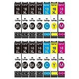 Kamo 18XL Multipack Compatible con Epson 18 18XL Cartuchos; Expression Home XP-102 XP-202 XP-205 XP-212 XP-215 XP-225 XP-30 XP-305 XP-312 XP-315 XP-322 XP-325 XP-405 XP-412 XP-415 XP-422 XP-425