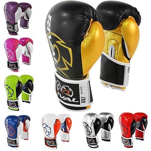 Rival boxing-rb7Fitness & Tasche Handschuhe, schwarz / goldfarben
