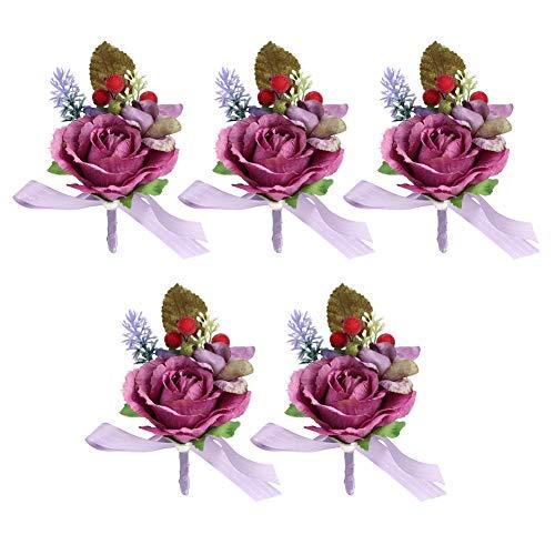 Cafopgrill Partydecoratie huwelijk simulatie knoopsluiting bruid bloem corsage voor ceremonie, bruiloft, gala, afstudeerfeest, dans