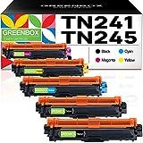 Greenbox - Toner di ricambio per Brother TN-241 TN-245 TN-242 TN-246 per Brother MFC-9332CDW DCP-9022CDW HL-3142CW HL-3152CDW MFC-9142CDN MFC-9140CDN MFC-9342CDW DCP-9017CDW 9020CDW HL-3140CW