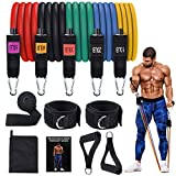 AQUAJOY Gym Bands,Home Workout Bands,Exercise Bands Stackable Up to 150lbs Best Fitness Bands for Men Women Muscle Training, Physical Therapy, Shape Body,Home Workouts,Yoga,Pilates