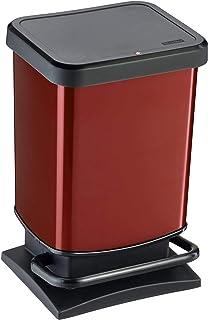 comprar comparacion Rotho Paso, Cubo de basura de 20l con tapa a prueba de olores, Plástico PP sin BPA, rojo metálico, 20l 29.3 x 26.6 x 45.7 cm