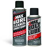 zMAX 50-503 - Firearm Aerosols 2-Pack Bore Cleaner/Conditioner & Bolt Lube Aerosol Spray - Micro Lubricant - Reduces Carbon Build Up - Easy to Use - Extends Gun Performance - 2 cans, 6.8 oz & 5.0 oz