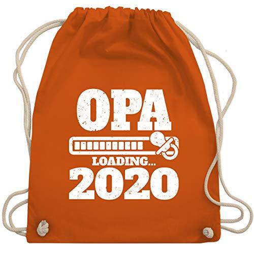Shirtracer Opa - Opa loading 2020 mit Schnuller - Unisize - Orange - opa geschenke - WM110 - Turnbeutel und Stoffbeutel aus Baumwolle