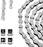 KONIBN 6/7/8-Speed Bicycle Chain, 116 Links Steel High Strength Bike Derailleur Chain for...