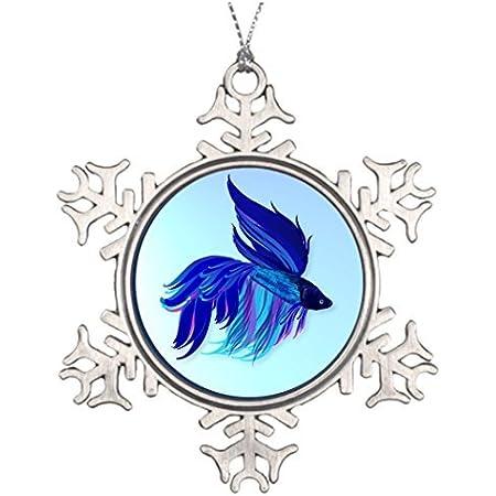 Big Blue Fish Christmas Ornament