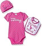 NFL Houston Texans Baby-Girls Bodysuit, Bib &...