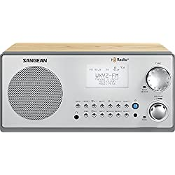 Sangean All in One HD AM/FM Dual Alarm Clock Radio with Large Easy to Read Backlit LCD Display