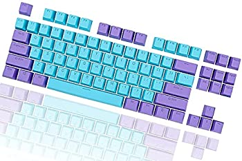 87 Key Keycaps,Cherry MX Switches Keyboard RGB Keycaps ANSI Layout Doubleshot PBT Blue Keycaps with Puller,for 87/61 IKBC W200,CD87/GS 87 / RK 87 / RK Royal/Anne pro/Kaih/GANSS /GH60  Shen2-87