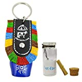 Metal Cow Bell with Small Message Bottle Gift Potli for Your Special Ones (Multicolour)