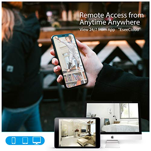 【Microphone Inside】 Wireless Video Security Surveillance Camera System with Hard Drive,OOSSXX 8CH HD 1080P Home NVR/DVR Kit,4Pcs 1080P Wireless Outdoor IP Cameras with One-Way Audio,P2P,App