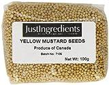 JustIngredients Essential Semillas de Mostaza Amarilla - 5 Paquetes de 100 gr - Total: 500 gr