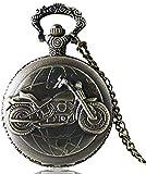 bronzo antico orologio da tasca motocicletta orologio da tasca orologio da tasca collana regalo da uomo