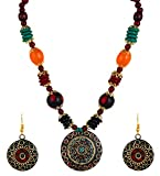 YouBella Jewellery Set for Women Tibetan Pendant Necklace with Earrings for Women & Girls (Gift) Tribal Necklace Jewellery Beads Necklace infinity necklace gold May, 2021
