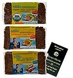 Mestemacher Natural High Fiber Bread 3 Flavor Variety (1) each: Organic Three Grain, Sunflower Seed, Fitness (17.6 Ounces) Plus Recipe Booklet Bundle