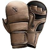 Hayabusa T3 LX Italian Leather 7oz MMA Sparring Training Gloves Men & Women - Brown, Large