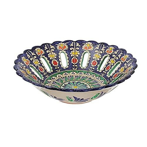 Frutero oriental Rishtan de cerámica (28 cm de...