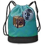 Sacs de Cordon d'impression pour Appareil Photo Brownies Box Gymsack - Sac de randonnée Simple