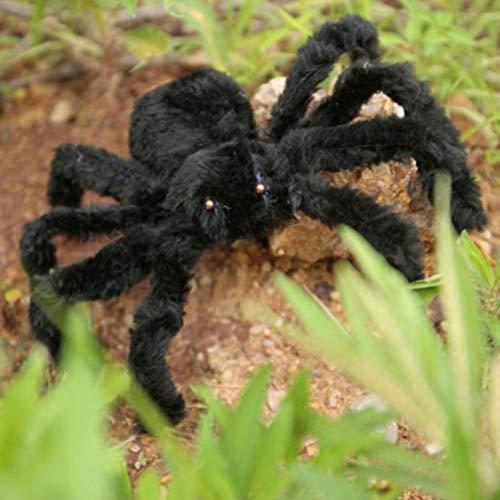 MOLEK negro araña peluche juguete para halloween fiesta de miedo decoración embrujada casa prop interior jardín al aire libre
