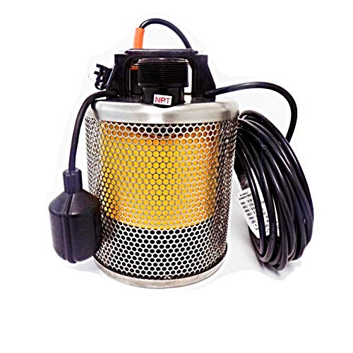 Site Drainer Pit Boss 101T, 1/2 HP, Non Clogging, Electric Submersible Dewatering Pump and Trash Pump with Float Switch