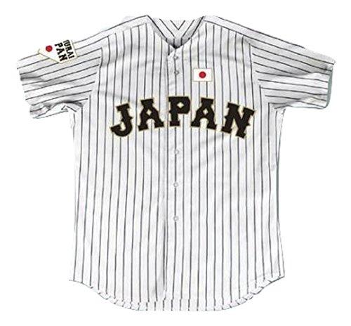 Shohei Ohtani 16 Japan Samurai White Pinstriped Baseball Jersey Stitch (34)