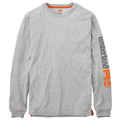 Timberland PRO Camiseta de manga larga mezclada con placa base grande y...