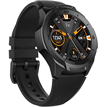 TicWatch S2 スマートウォッチ 5ATM防水&水泳対応 GPS内蔵 心拍計 Wear OS by Google ios&android対応 アウトドア 多機能 腕時計 ブラック
