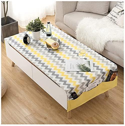 MUZIDP Mantel europeo para mesa de café, de algodón, lino, para armario, de TV, color A, tamaño: 70 x 180 cm
