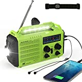 Emergency Radio Hand Crank Solar, 5000mAh AM/FM/SW NOAA Weather Radio, Portable Battery Operated Radio with Cell Phone Charger, 3W LED Flashlight & Reading Lamp, SOS for Home,Storm,Camping,Survival