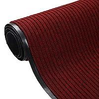 屋内/屋外PVC滑り止めカーペットのランナーがカット可能な、硬い身に着けているホテルの台所の戸口の敷地の敷物の敷物 (Color : Wine red, Size : 1.2×1.5m)